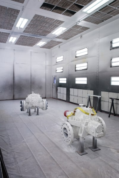 Pumps in Power Zone's Paint Facility